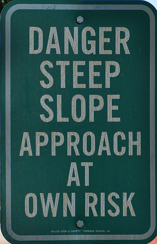 Danger sign by Bruce A Stockwell