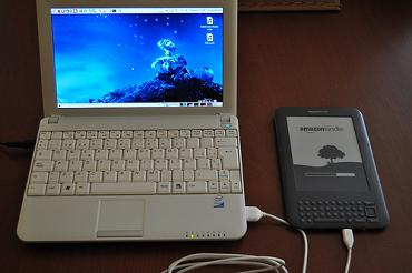 Kindle connected to NetBook