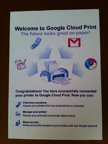 GoogleCloudPrint via Preoccupations