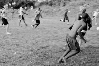 Jamaican Boys playing Football